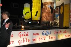 2008 - Bierwechsel im Zelt